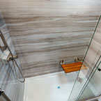 329DV  large shower with bamboo seat